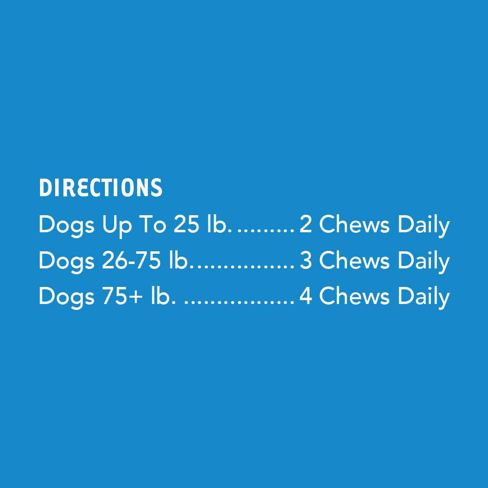 Advanced Hip & Joint Chews For Dogs With Glucosamine, MSM Chondroitin, Organic Turmeric (120 ct)