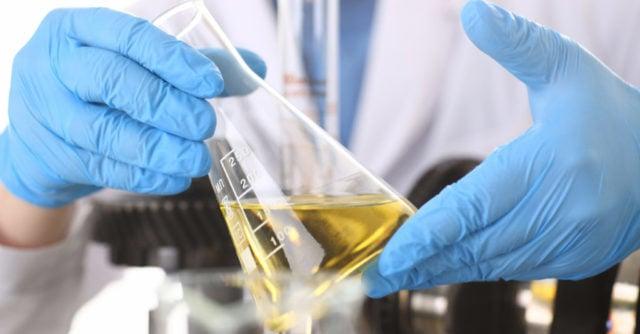 A scientist runs safety tests on CBD oil