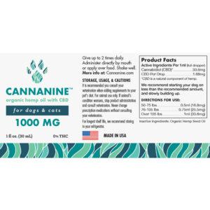 Cannanine™  Ultra-PremiumFull Spectrum CBD Oil from Hemp (1000 mg)