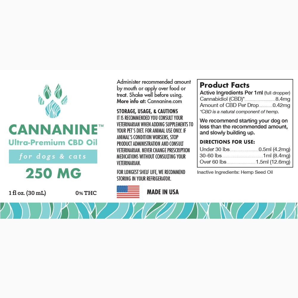 Cannanine™ Ultra-Premium Hemp Oil (250mg, 500mg, 1000mg)